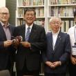 BMW Motorradの新ディレクター、リー・ニコルス氏が鳥取県若桜町長、小林氏らと石破大臣を表敬訪問