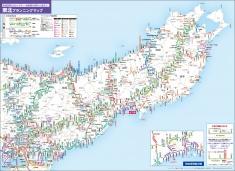 大判プランニングマップもリニューアル。高速道路や有料道路のIC・JCTやSA・PAの施設サービス内容、各基点からの距離などが見つけやすく計算しやすいデザインに