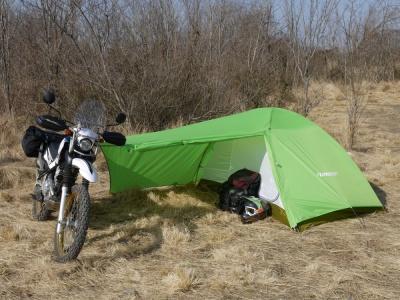 風魔プラスワンとモンベルがコラボしたツーリング用テントが登場