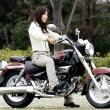 [女性ライダーの足つきチェック] GV250 (2009年撮影)