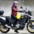 [女性ライダーの足つきチェック]V-STROM650XT ABS(2018年撮影)