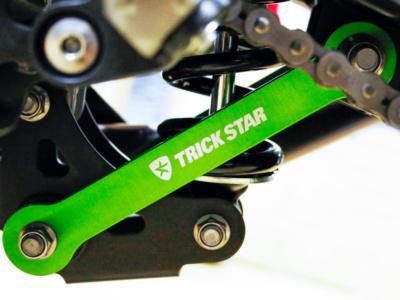 トリックスターより2018年ニンジャ250/400用のローダウンリンクキットが登場!STD比で20mmのローダウン効果