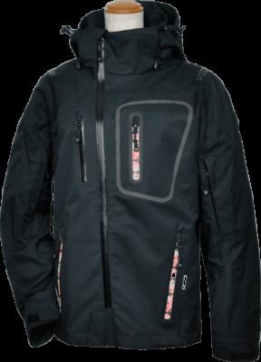 3レイヤーアシンメトリーレディースジャケット