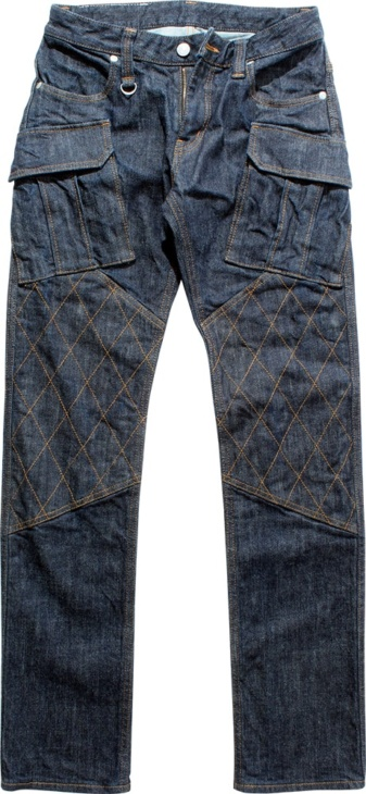 STRETCH DENIM DOUBLE KNEE PANTS