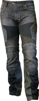 S/F Protect Leather Mesh Jeans