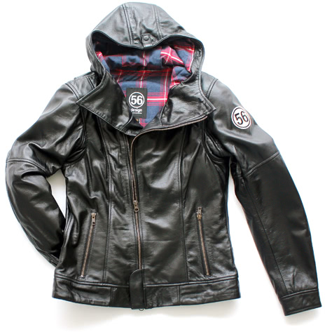 S-Line Leather Parka for Lady