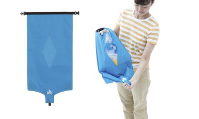 """持ち運べる洗濯機 """"LOGOS シェイク洗濯袋"""""""