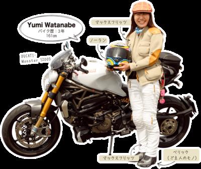 Yumi Watanabe & DUCATI Monster 1200S