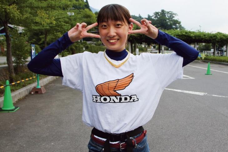 ホンダ乗りなのでTシャツもホンダで統一! 元気いっぱい!