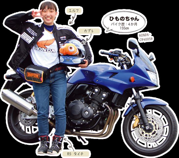 ひものちゃん & HONDA CB400SB
