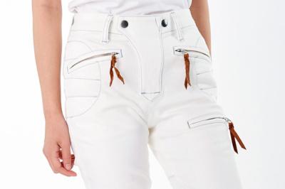 女性ライダーにオススメのライディングパンツ「MaxFritz 別注 ストレッチモトジーンズ」できました♪