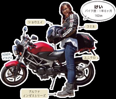 けい & HONDA VTR250