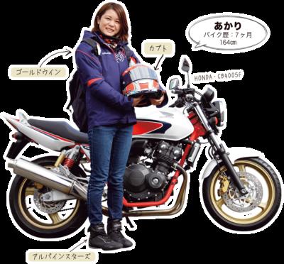 あかり & HONDA CB400SF