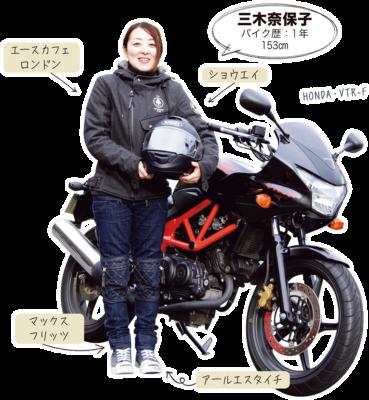 三木奈保子 & HONDA VTR-F