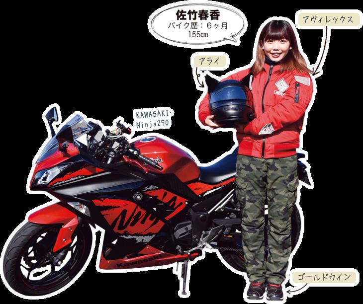 佐竹春香 & KAWASAKI Ninja250
