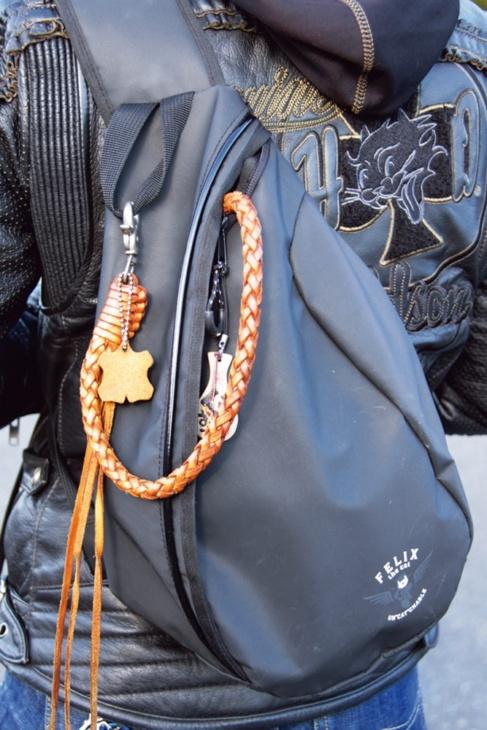 フィリックス・ザ・キャットのショルダーバッグ。革小物も大好き♡