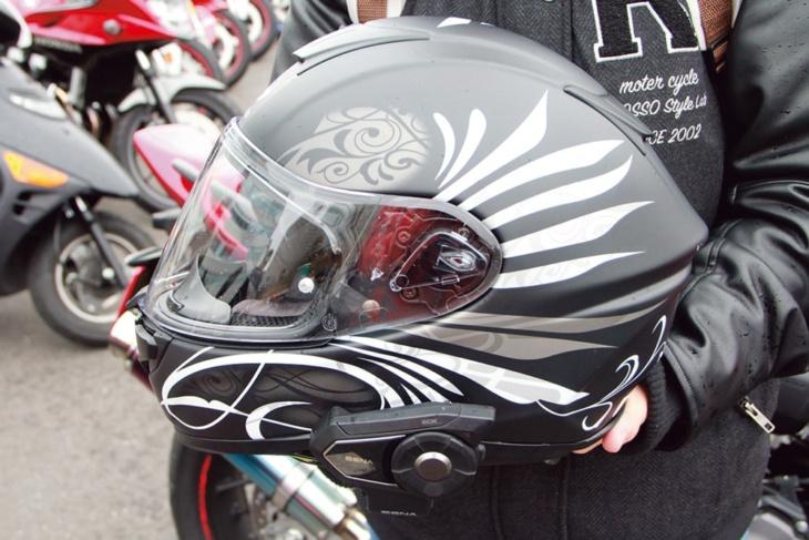 デザインにひと目ぼれしたヘルメットは好みにぴったり