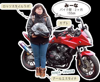 みーな & HONDA CB400SB