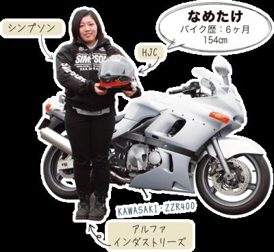 なめたけ & KAWASAKI ZZR400