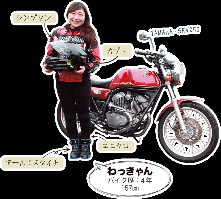 わっきゃん & YAMAHA SRV250