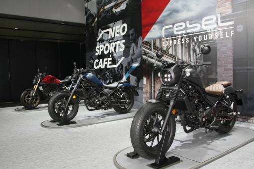 HONDAバーチャルモーターサイクルショーで展示されたレブル新型モデル