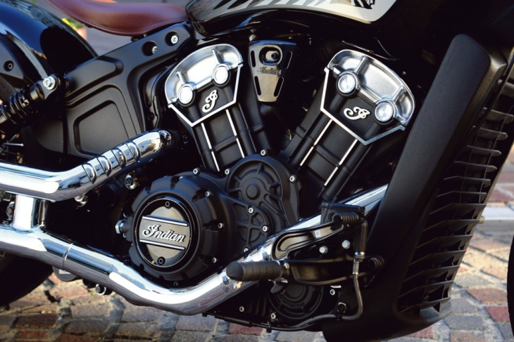 INDIAN MOTORCYCLE SCOUT BOBBER TWENTY V型2気筒エンジン