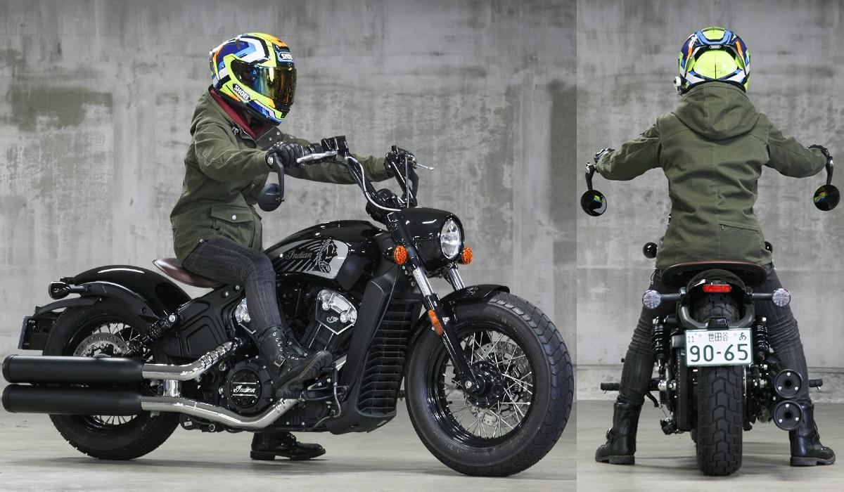 INDIAN MOTORCYCLE SCOUT BOBBER TWENTY 足つき&乗車ポジション