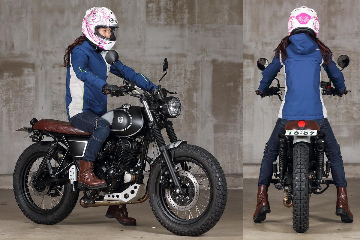 MUTT MOTORCYCLES MASTIFF250 足つき&乗車ポジション