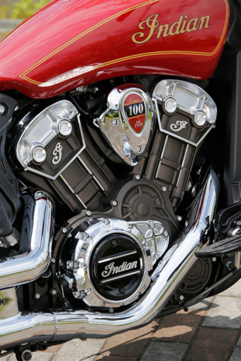 INDIAN MOTORCYCLE Scout 100th Anniversary Edition エンジン