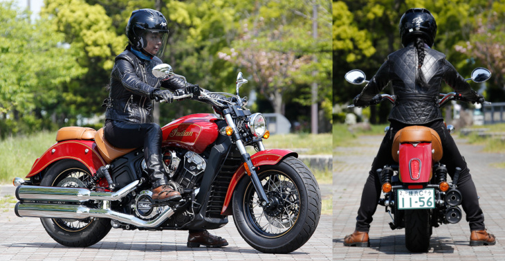 INDIAN MOTORCYCLE Scout 100th Anniversary Edition 足つき