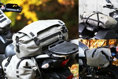 """梅雨時期の強い味方!デザインと容量異なる3タイプの""""防水ツーリングバッグ""""がドッペルギャンガーから登場!"""