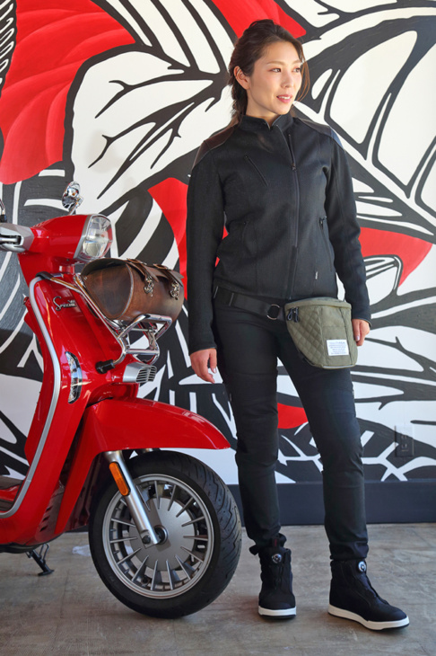 ROSSO STYLELAB(ロッソスタイルラボ) LEATHER PROTECT RIDER'S MESH JACKET・ STRETCH SKINNY PANTS・WATERPROOF RIDING SHOES