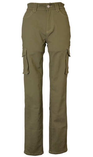 CLEVER CLP-229 STRETCH COTTON TOURING PANTS カーキ