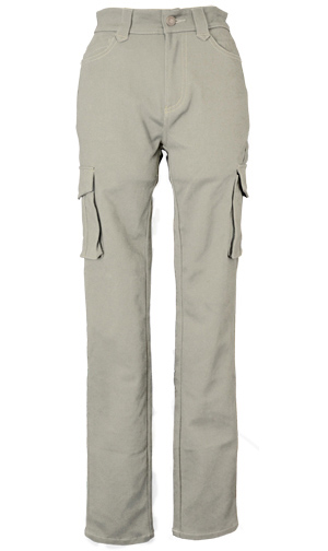 CLEVER CLP-229 STRETCH COTTON TOURING PANTS シルバー