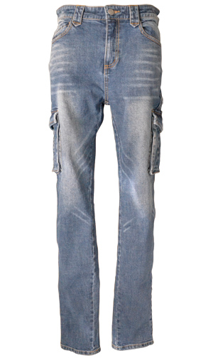 CLEVER CLP-229 STRETCH COTTON TOURING PANTS ウォッシュブルー
