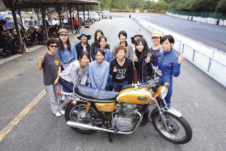 サーキットを通じて仲間を増やす バイク女子