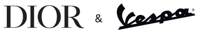 Dior & Vespa ロゴ