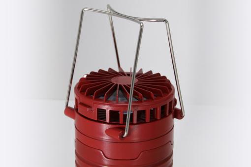 Indian Outdoor ファン付き LEDランタン(クリムゾンレッド)可動式ハンドル、ストラップ
