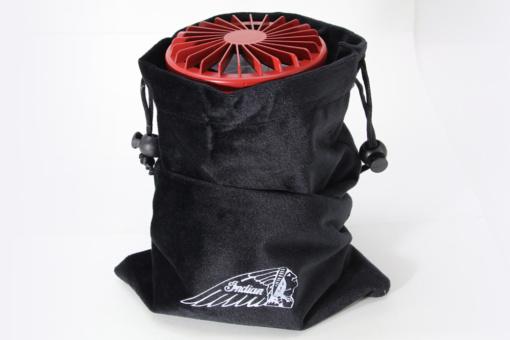 Indian Outdoor ファン付き LEDランタン(クリムゾンレッド)刺繍入りオリジナル収納袋