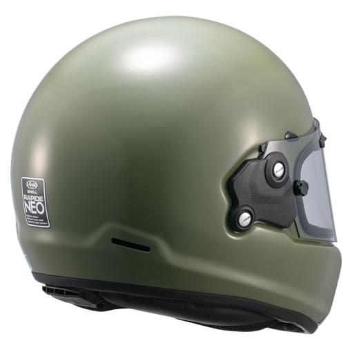 アライヘルメット RAPIDE-NEO(ラパイドネオ)ナンカイオリジナルカラー モスグリーン リヤビュー
