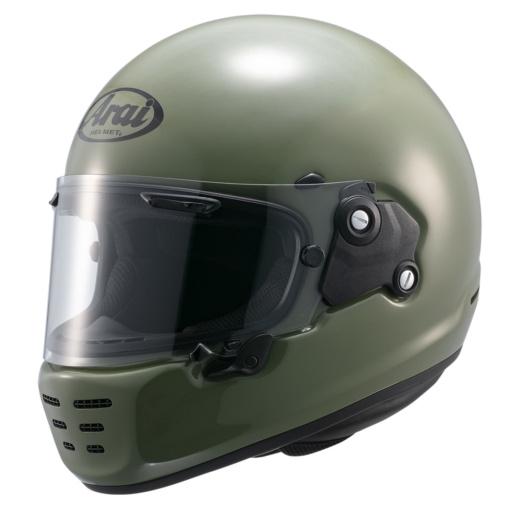 アライヘルメット RAPIDE-NEO(ラパイドネオ)ナンカイオリジナルカラー モスグリーン フロントビュー