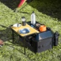 TANAX キャンプテーブルシートバッグをテーブルとして使用