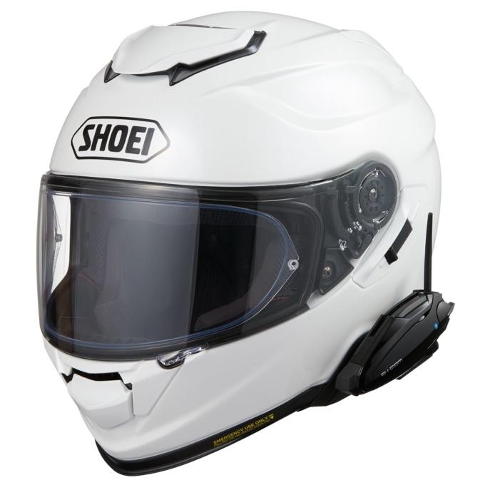 SHOEI GT-Air ⅡにB+COM ヘルメットアタッチメントを使用して装着したB+COM SB6X