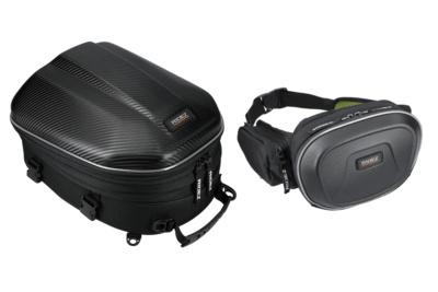 大容量で背負って持ち運べるシートバッグ&形状記憶力抜群ハードシェルウエストバッグがRIDEZから登場!