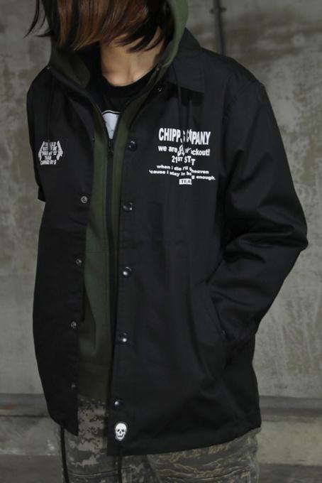 CHIPPS COMPANY チップスカンパニー 21TH コーチジャケット ブラック