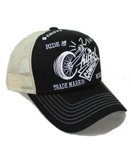 CHIPPS COMPANY チップスカンパニー RIDE&LIVE CAP ブラック×ホワイト