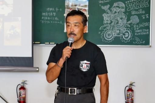 R+ANの代表理事を務めMOTO MIXX SCHOOLで指導を行なう清水豊さん