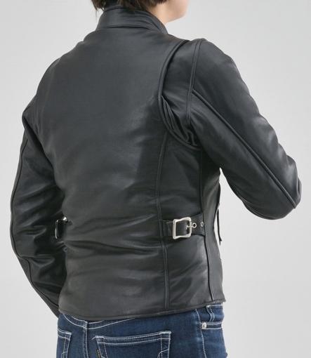 デイトナレザース DL-001 シングルライダースジャケット着用イメージ背面