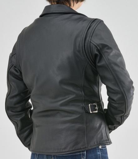 デイトナレザース DL-003 ダブルライダースジャケット着用イメージ背面