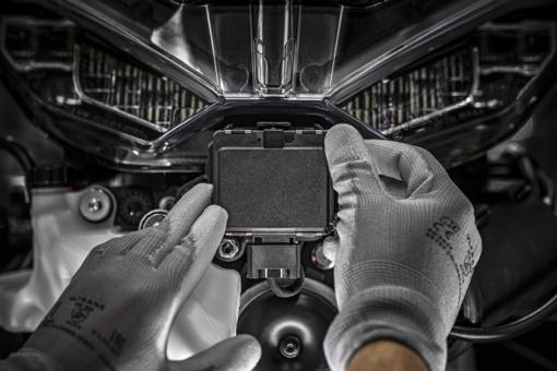 Ducati Multistrada V4 レーダーセンサー前